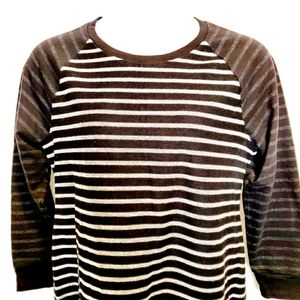 Style & Co Sport Black and Off White Sweatshirt XL